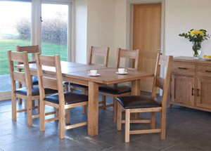 Furniture Link Hampshire Extending Table 150/195